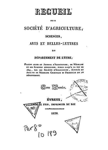 Recueil de 1830