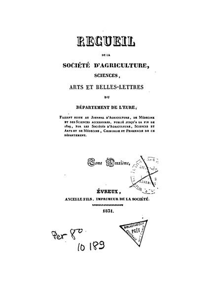 Recueil de 1831