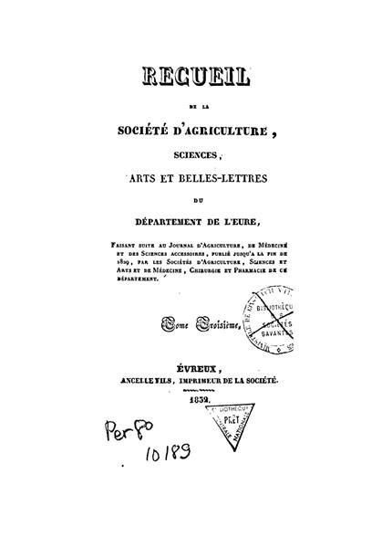 Recueil de 1832