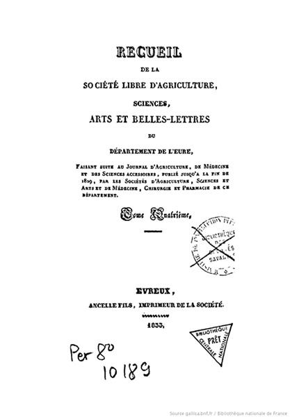 Recueil de 1833