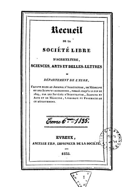 Recueil de 1835