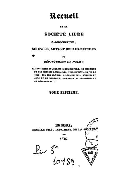 Recueil de 1836
