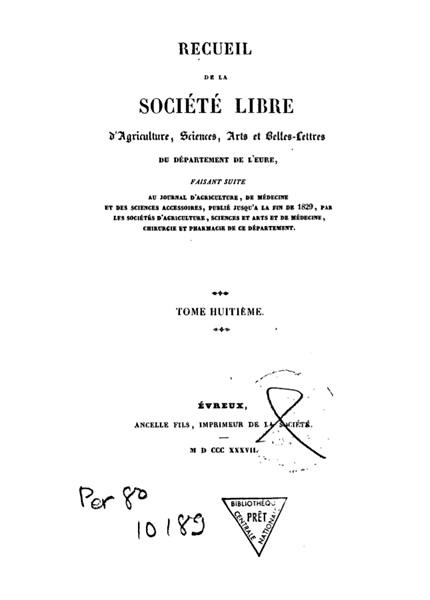 Recueil de 1837