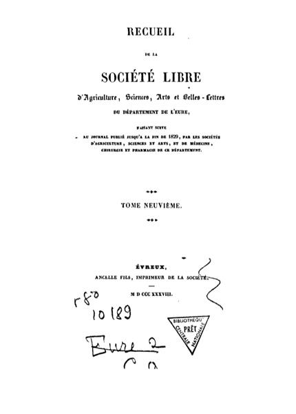 Recueil de 1838