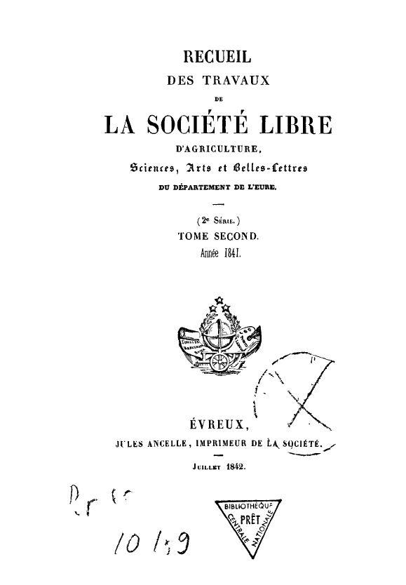 Recueil de 1841
