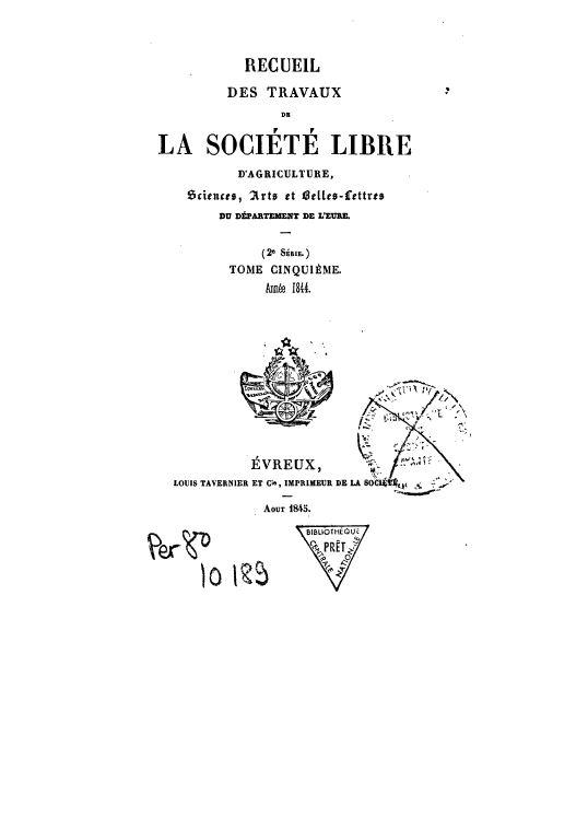 Recueil de 1843