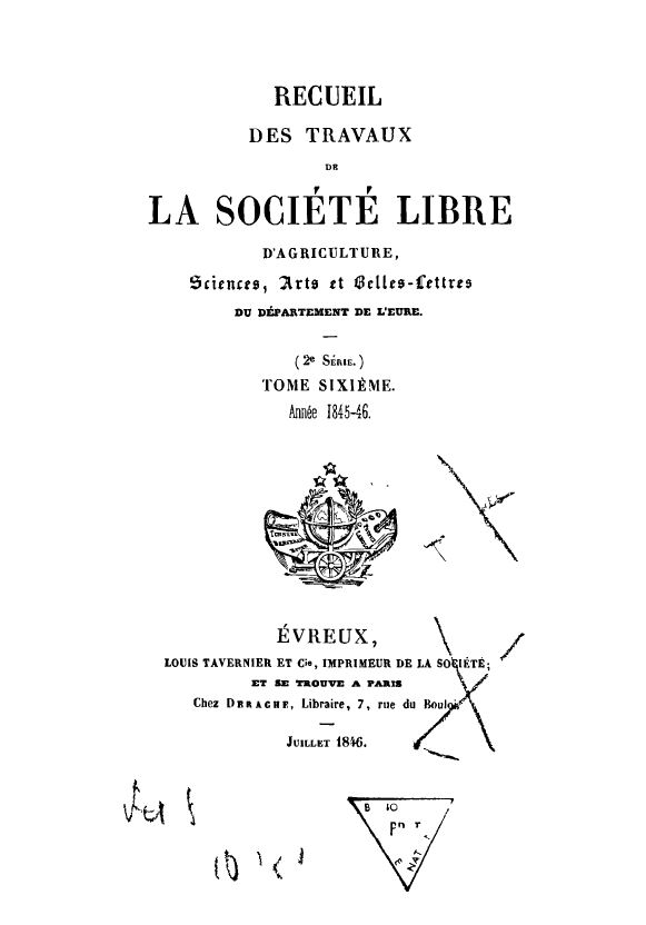 Recueil de 1845